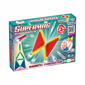 SUPERMAG TAGS PRIMARY - SET CONSTRUCTIE 28 PIESE