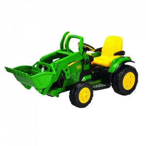 Tractor electric Peg Perego JD Ground Loader, 12V, 3 ani +, Verde / Galben