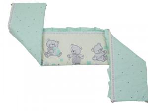 Aparatoare Laterala MyKids Teddy Toys Turquoise M1 120x60