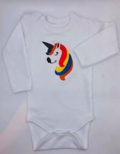 Body alb brodat unicorn 2