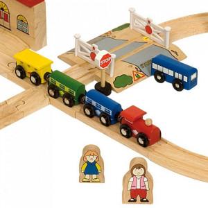 Circuit auto si feroviar (101 piese)