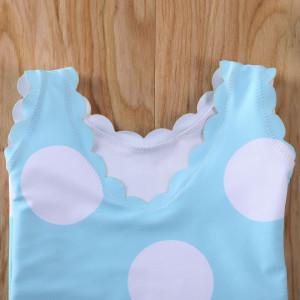 Costum de baie cu buline mari