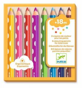 Creioane colorate pentru bebe, Djeco