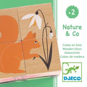 Cuburi din lemn Natura Djeco