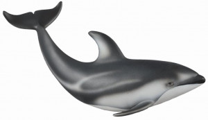 Figurina Delfin de Pacific cu lateralele albe M Collecta