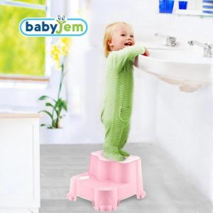 Inaltator cu doua trepte BabyJem Step Stool Roz