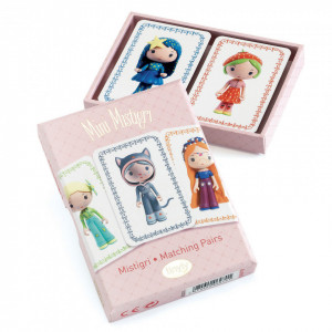 Joc de carti Djeco Mini Mistigri, printesele Tinyly