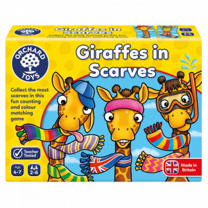 Joc educativ Girafe cu Fular GIRAFFES IN SCARVES