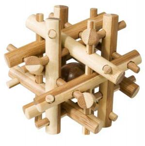 Joc logic IQ din lemn bambus Magic sticks