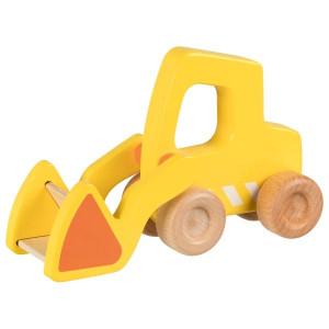 Micul santierist - Buldozer din lemn - Material joc de rol bebelusi