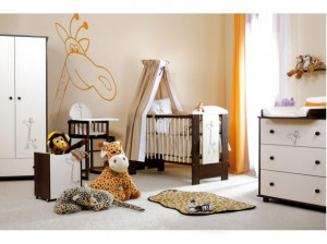 Mobilier Camera copii Si Bebelusi KLUPS SAFARI GIRAFFE Wenge
