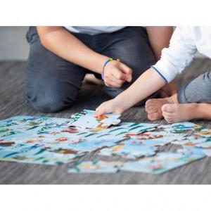 Puzzle (30 piese) cu carte - La sanius