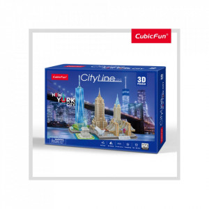 PUZZLE 3D NEW YORK 123 PIESE