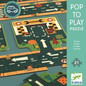 Puzzle gigant Djeco Drumuri