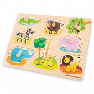 Puzzle lemn Safari 9 piese NEW