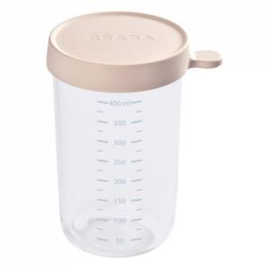 Recipient ermetic sticla 400ml Nude