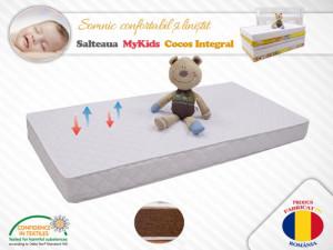 Saltea MyKids Fibra De Cocos Integral 140x70x6 Husa Microfibra Matlasata