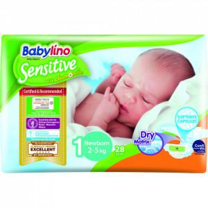 Scutece Babylino Sensitive N1 2-5kg/28 buc
