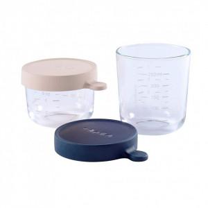 Set 2 recipiente sticla 150/250 ml bleu