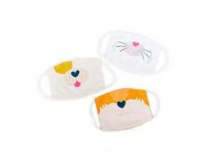 Set 3 masti pentru copii - Catel, pisica si vulpe