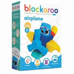Set cuburi din spuma cu magnet Blockaroo, Avion 10 piese