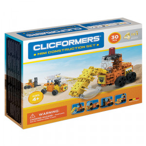 Set de construit Clicformers- Mini set cu vehicule de santier