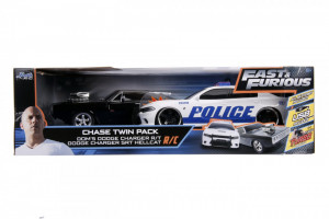SET MASINUTE FAST AND FURIOUS RC TOYOTA SUPRA&DODGE CHARGER SRT SCARA 1:16