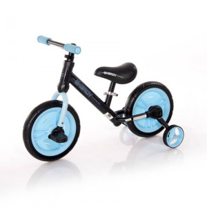 Bicicleta Energy, cu pedale si roti ajutatoare, Blue
