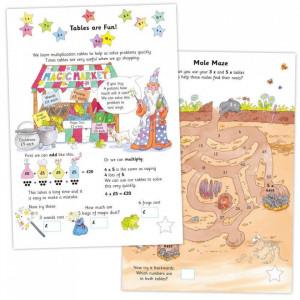 Carte cu activitati si abtibilduri - Tabla inmultirii - Carte povesti pentru copii