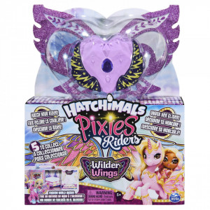 HATCHIMALS SET DE JOACA CU FIGURINE PIXIES RIDERS VIOLET