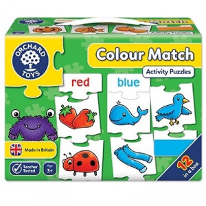 Joc educativ - puzzle in limba engleza Invata culorile prin asociere COLOUR MATCH