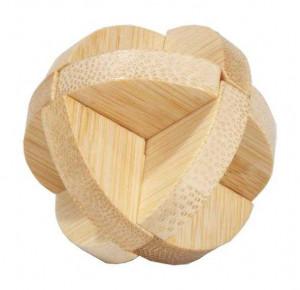 Joc logic IQ din lemn bambus in cutie metalica-3