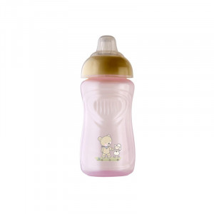 Pahar cu supapa silicon 300 ml Tender rose Rotho-babydesign