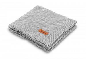 Paturica de bumbac tricotata Sensillo 100x80 cm Gri