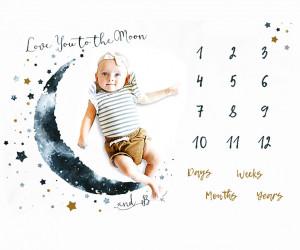 Paturica Milestone plusata pentru fotografii memorabile Luna Albastra