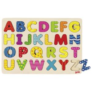 Puzzle cu alfabet - Curcubeu