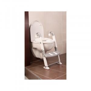 Scara cu reductor WC si olita White silver grey Kidskit rotho-babydesign