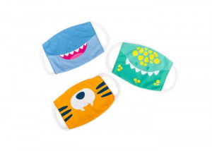 Set 3 masti pentru copii - Dinozaur, tigru si rechin