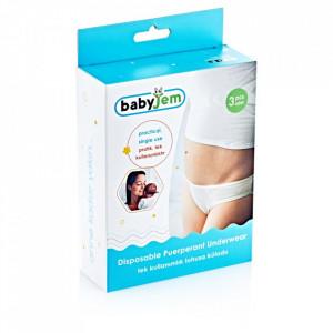 Set 3 perechi chiloti postnatali de unica folosinta BabyJem