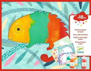 Set creativ Djeco, Bebe apasa si picteaza