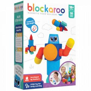 Set cuburi din spuma cu magnet Blockaroo, Robot 10 piese