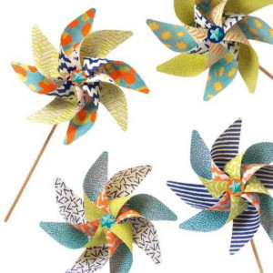 Set DIY Djeco, moristi de vant, modele geometrice