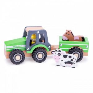 Tractor cu trailer - animale