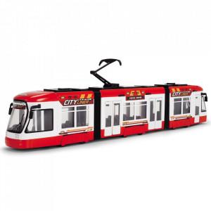 Tramvai Dickie Toys City Liner rosu