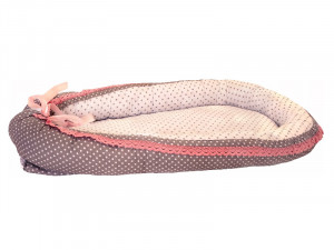 Baby Nest din Cocos MyKids Gray-Pink Vintage