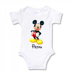 Body Bebe Personalizat Mickey