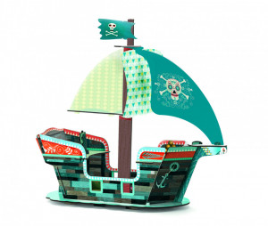 Corabia piratilor Djeco macheta 3D