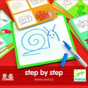 Deseneaza pas cu pas, animale & co Djeco