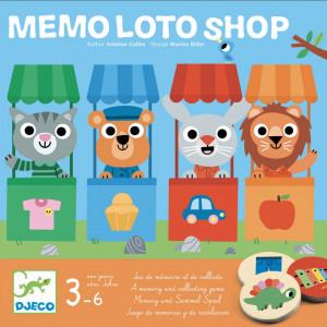 Joc de memorie si asociere Memo Loto Shop, Djeco