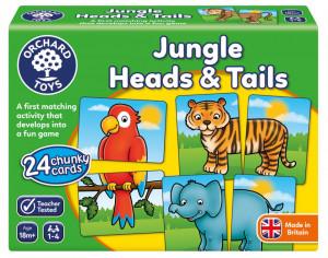 Joc educativ Jungla JUNGLE HEADS & TAILS